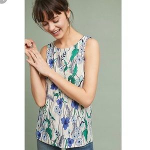 NWT Meadow Rue Cartagena Embroidered Tank Top